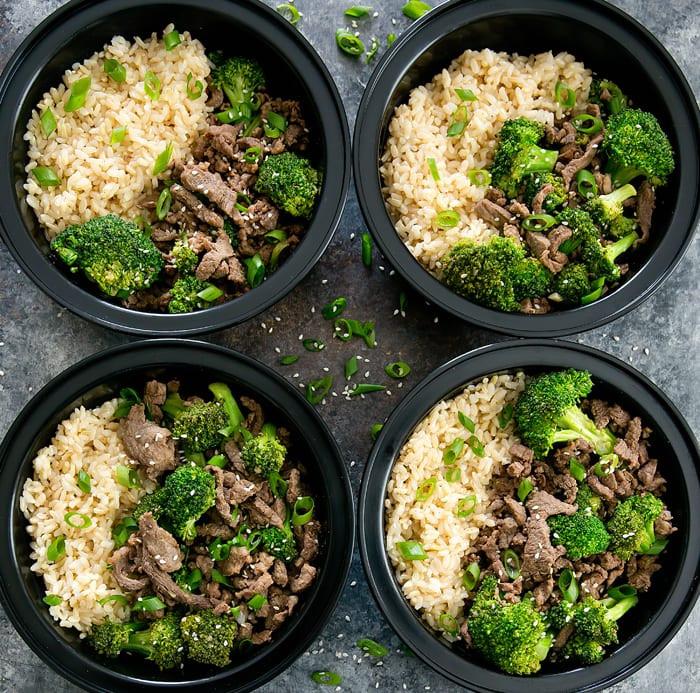 Korean Beef Bowls Meal Prep