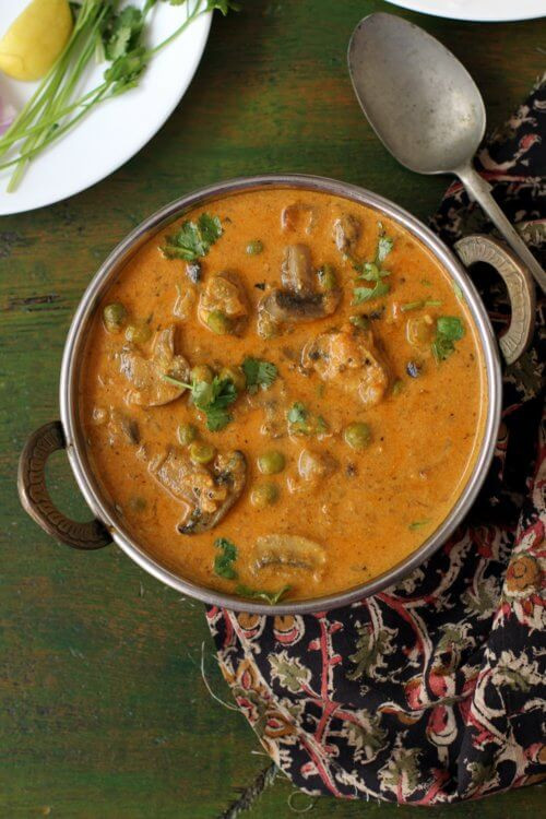 Matar Mushroom - Indian Food Recipes 1