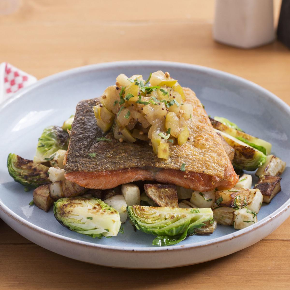 Seared Salmon & Fall Vegetables