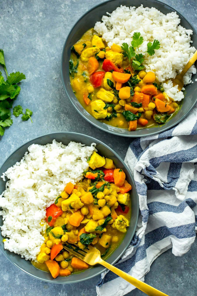 Slow Cooker Butternut Squash Chicken Curry 1