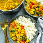 Slow Cooker Butternut Squash Chicken Curry