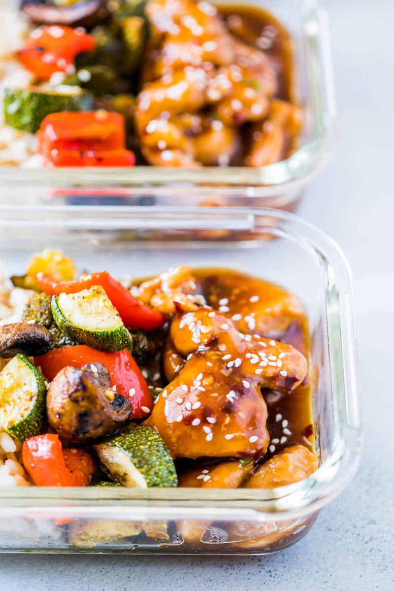 Teriyaki Chicken Stir-Fry Meal Prep 1
