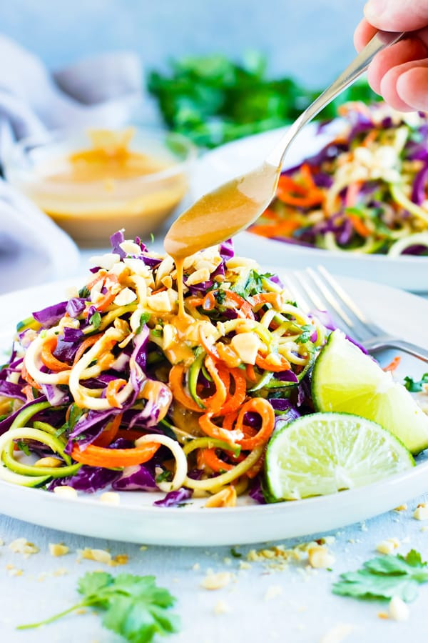 Thai Zucchini Noodle Salad with Cabbage 1