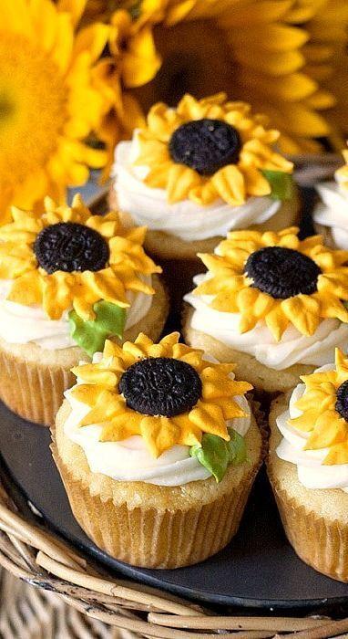 25 Fabulous Autumn Fall Cupcakes  25 best ideas about Sunflower Cupcakes on Pinterest