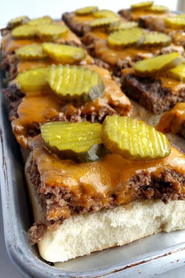 4 Thanksgiving Pies On One Sheet Tray  Sheet Pan Sliders with Copykat Big Mac Sauce