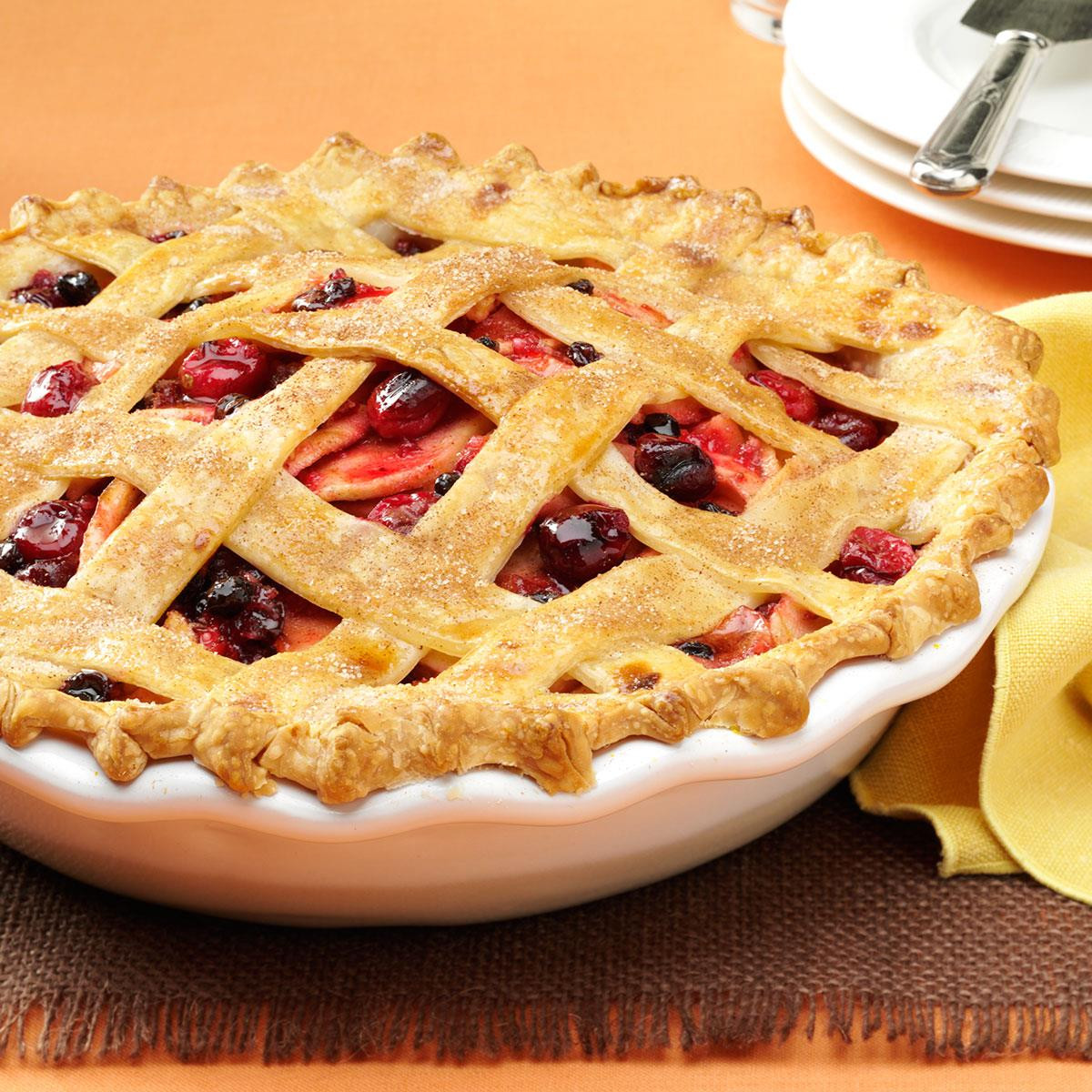 4 Thanksgiving Pies On One Sheet Tray  Cranberry Apple Lattice Pie Recipe