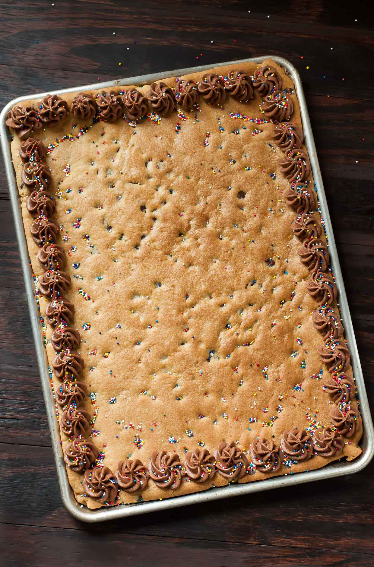 4 Thanksgiving Pies On One Sheet Tray  Sheet Pan Cookie Cake Recipe Peas And Crayons