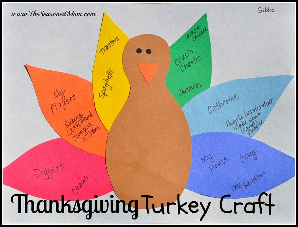 A Turkey For Thanksgiving Activities  Thanksgiving Turkey Craft The Seasoned Mom