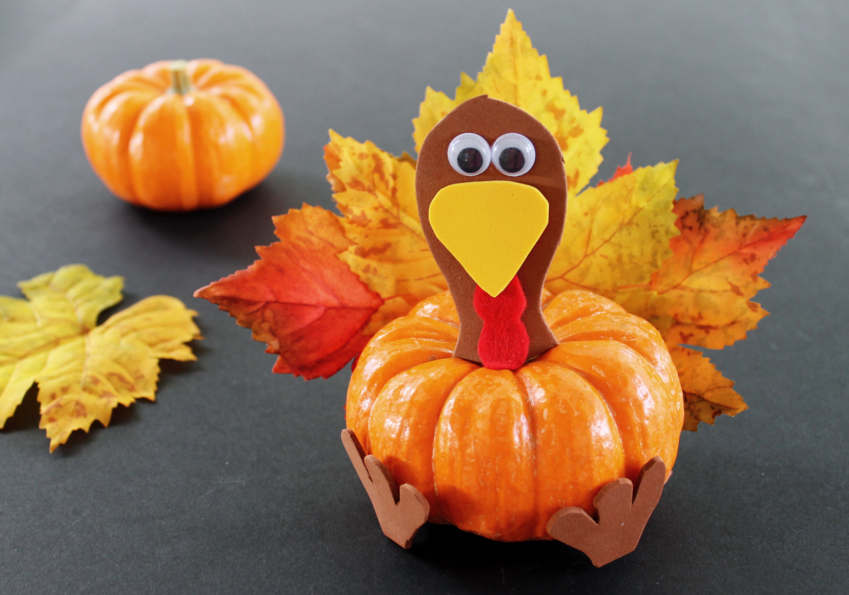 A Turkey For Thanksgiving Activities  Pumpkin Turkey Thanksgiving Craft for Kids Growing Up
