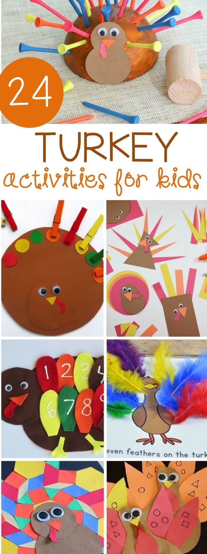 A Turkey For Thanksgiving Activities  24 Turkey Activities for Kids