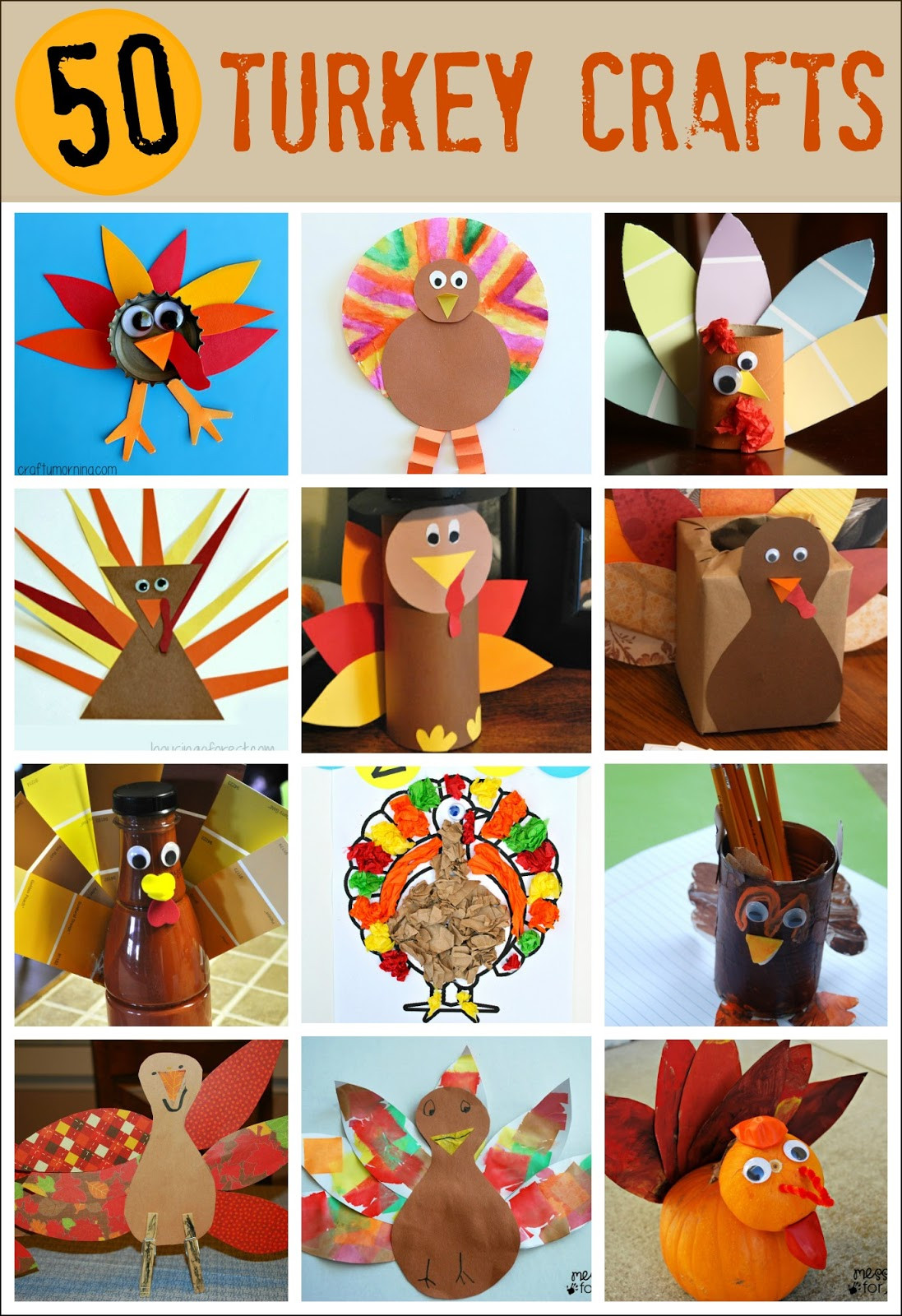 A Turkey For Thanksgiving Activities  Thanksgiving Crafts for Kids Pipe Cleaner Turkey Mess