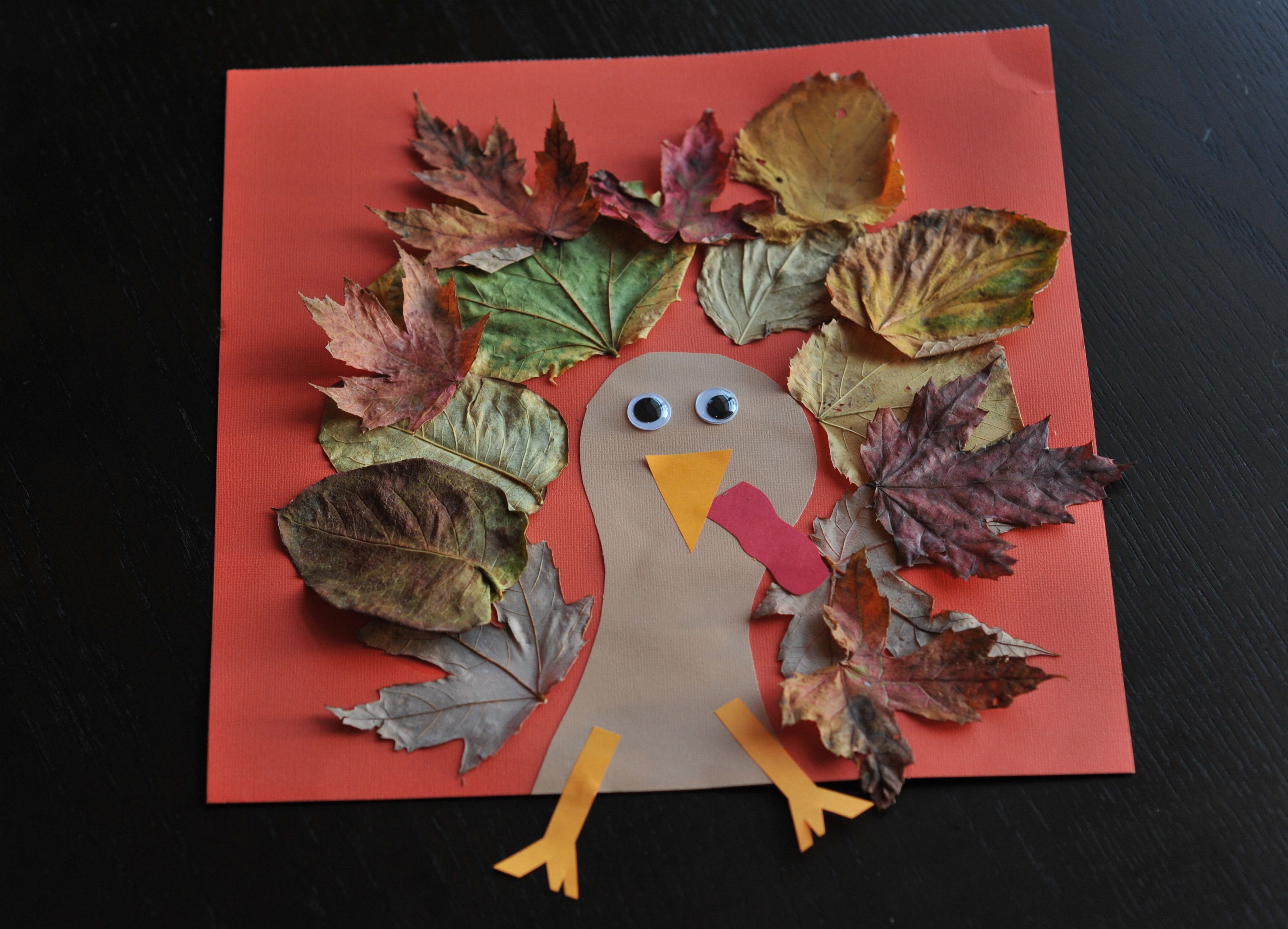 A Turkey For Thanksgiving Activities  Fall Turkey Craft with Leaves