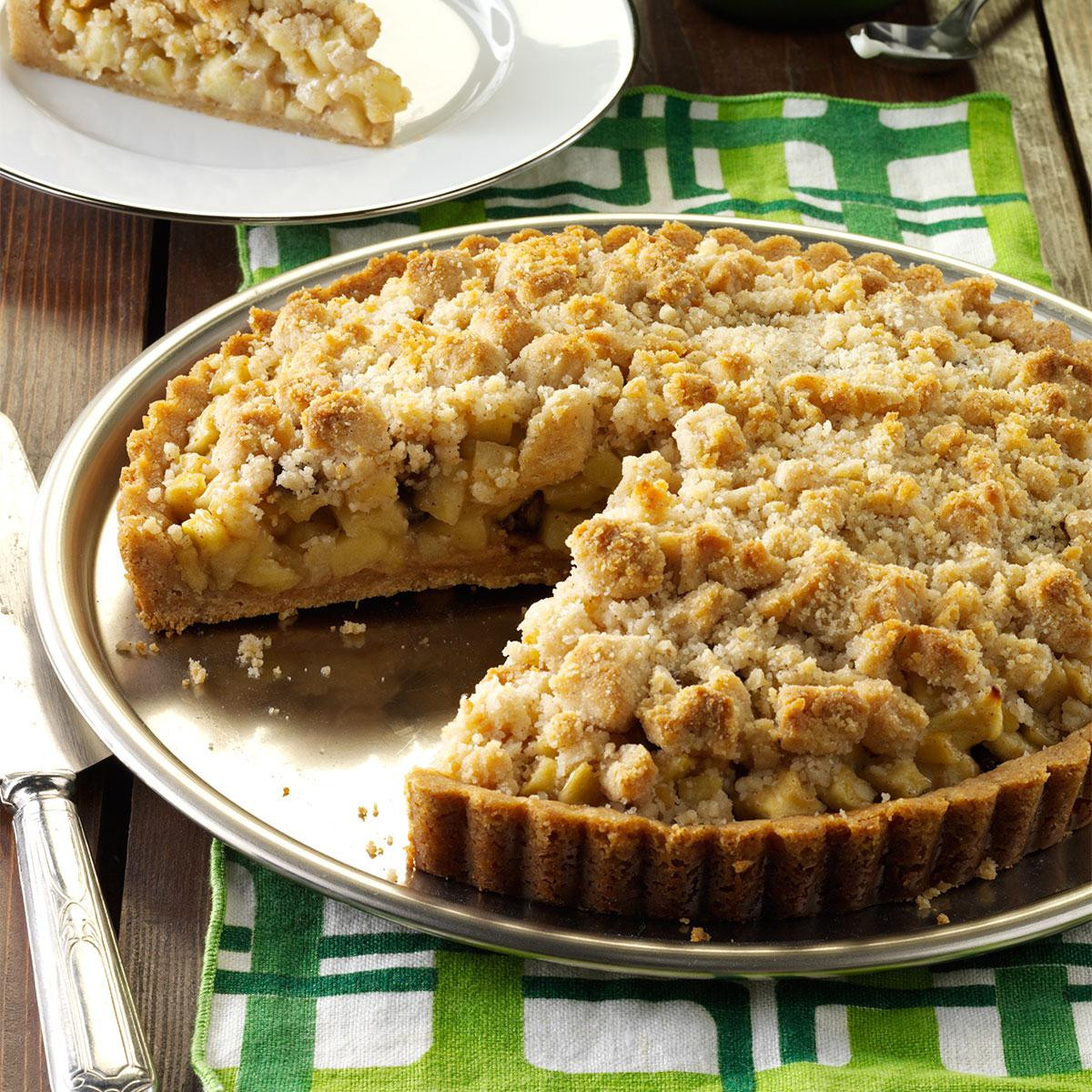 Apple Recipes For Fall  Apple Crumb Tart with Cinnamon Cream Recipe