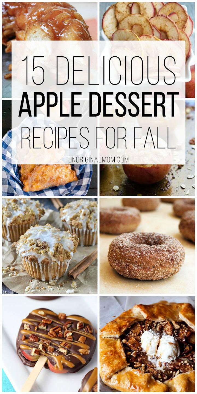 Apple Recipes For Fall  Delicious Apple Dessert Recipes for Fall unOriginal Mom