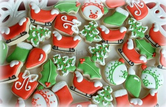 Assorted Christmas Cookies  Christmas Cookies MINI assorted Christmas cookie designs 3
