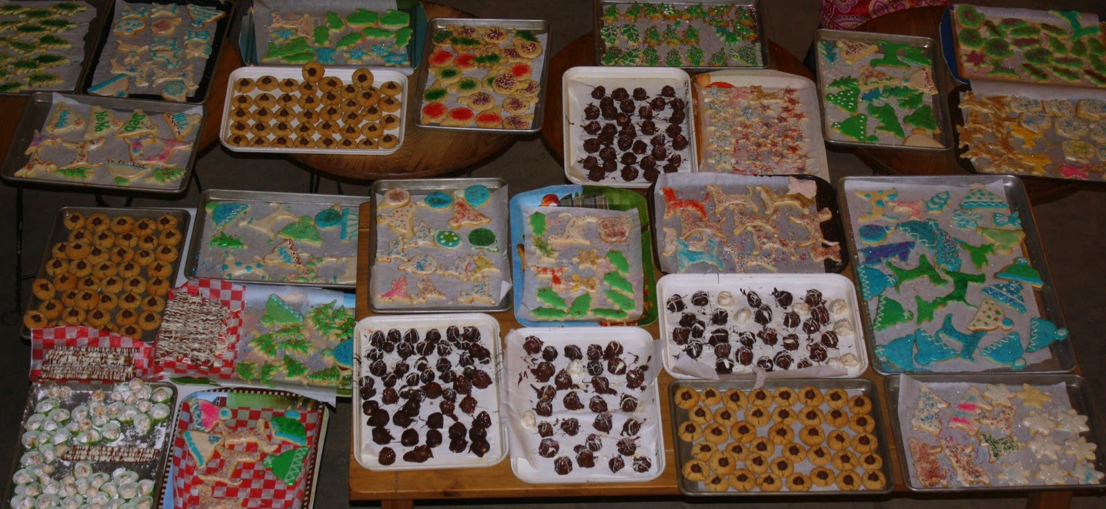 Assorted Christmas Cookies  Rah Cha Chow Peanut Butter Blossoms and Other Christmas