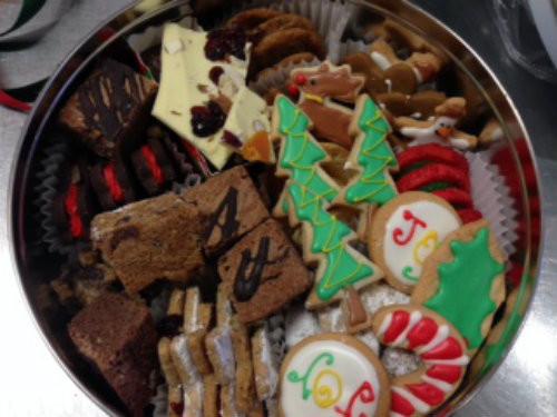 Assorted Christmas Cookies  Holiday Tin of Assorted Christmas Cookies Maggie & Molly