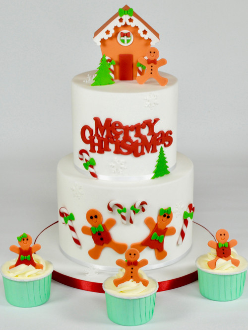 Best Christmas Cakes 2019  Gingerbread People Merry Christmas Cake