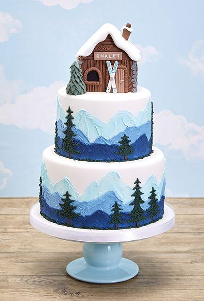 Best Christmas Cakes 2019  Ski Slope Cake Design by Sherry Hostler