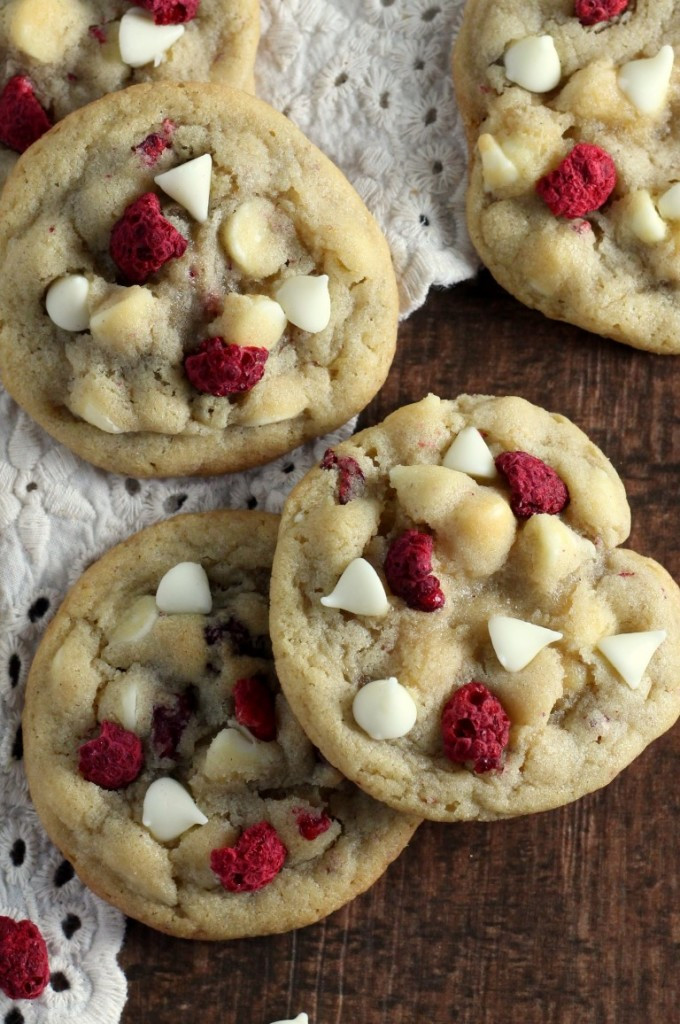 Best Christmas Cookies To Freeze  White Chocolate Raspberry Cookies Chocolate With Grace
