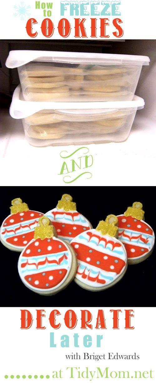 Best Christmas Cookies To Freeze  How to Freeze Cookies Best of Pinterest