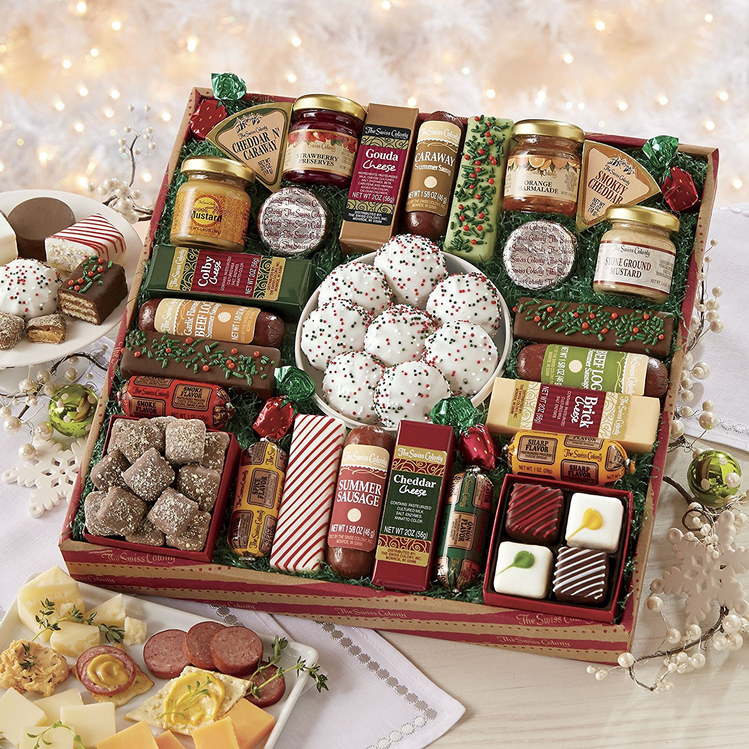 Best Christmas Food Gifts  Gourmet Food Gift Baskets Best Cheeses Sausages Meat