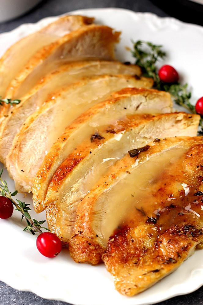Best Cooked Turkey For Thanksgiving  Instant Pot Turkey Breast Recipe Crunchy Creamy Sweet