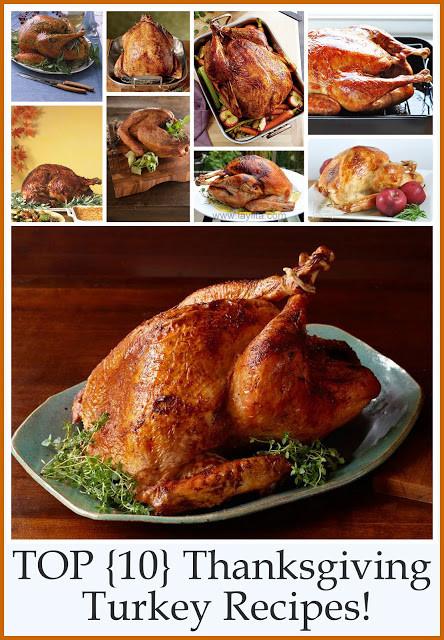 Best Turkey Recipe For Thanksgiving  Top 10 Thanksgiving Turkey Recipes