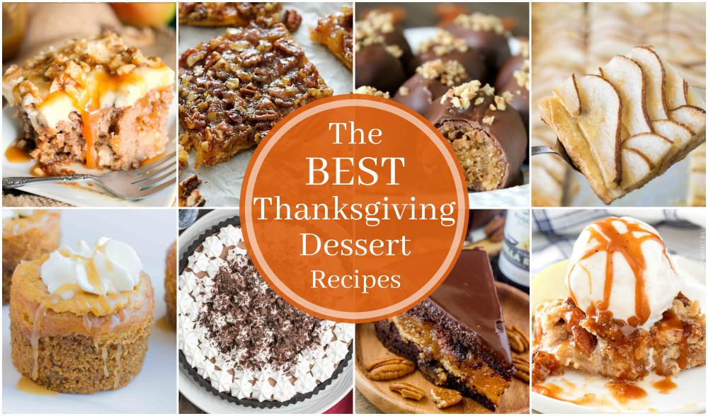 Best Turkey Recipes Thanksgiving  The BEST Thanksgiving Dessert Recipes