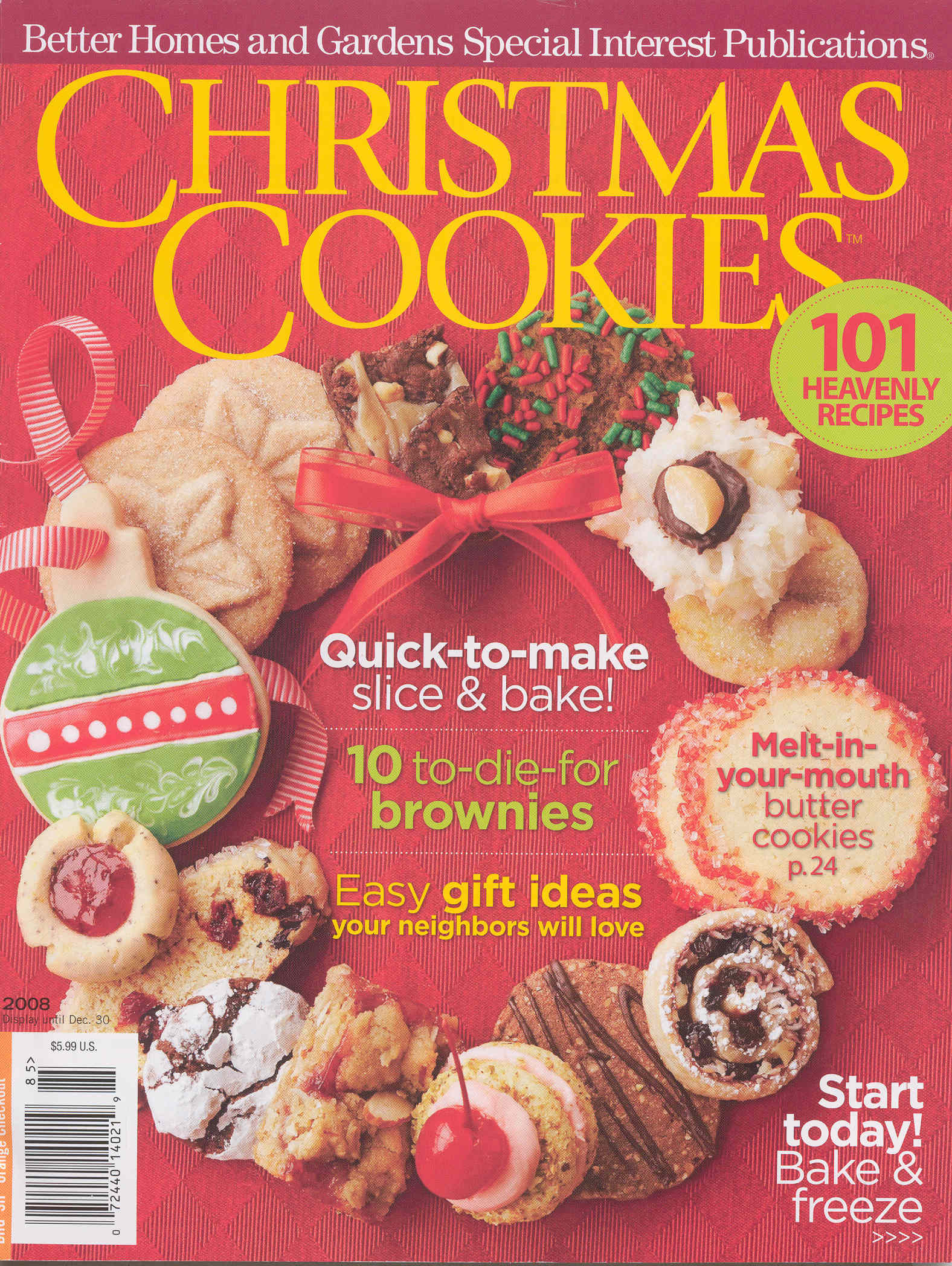 Better Homes And Gardens Christmas Cookies  Better Homes and Gardens Christmas Cookies Cover