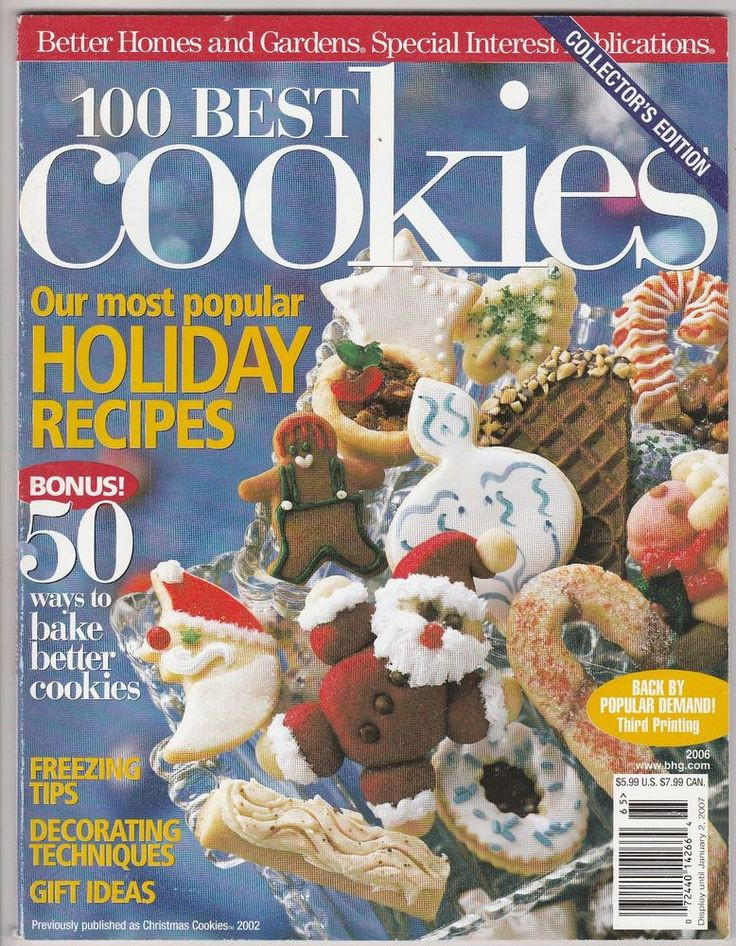 Better Homes And Gardens Christmas Cookies  100 Best Christmas Cookies Better Homes and Gardens 2006