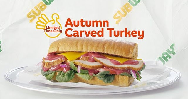 Bojangles Turkey For Thanksgiving 2019  Thanksgiving Themed Autumn Carved Turkey Sub is Back at