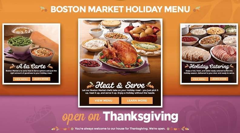 Boston Market Christmas Dinner  Boston Market Thanksgiving Dinner Menu 2015 Meal Hours