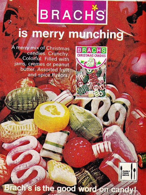 Brach Christmas Candy  Ribbon candy and the jelly filled fruits were my favorite