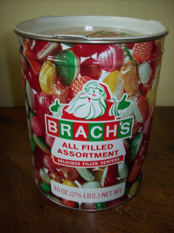 Brach Christmas Candy  VINTAGE BRACHS CHRISTMAS CANDY TIN WITH SANTA by kris67 on