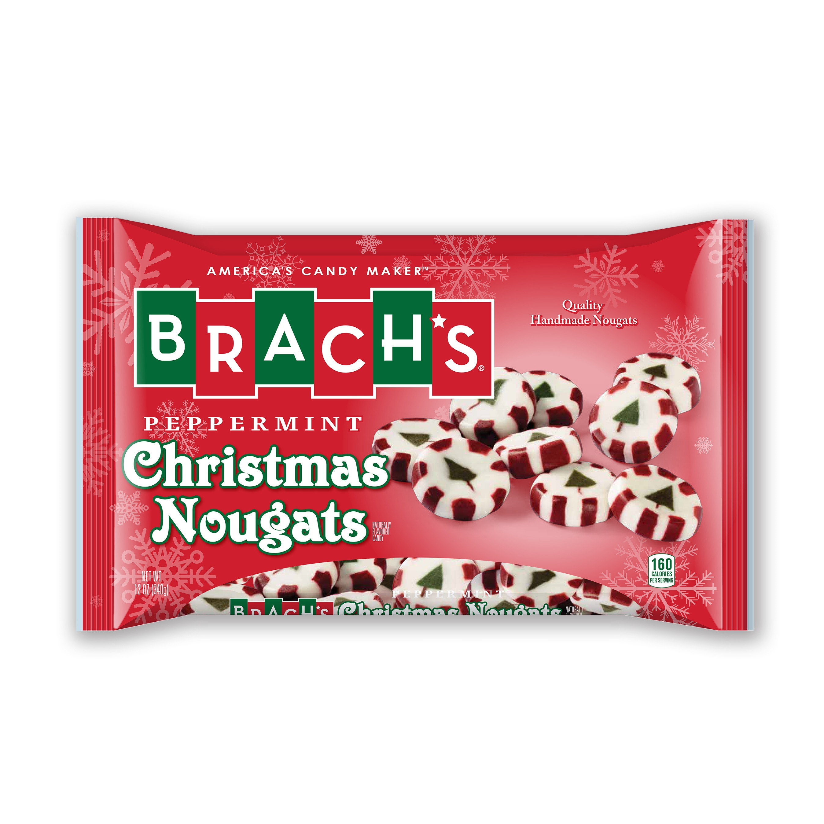 Brach Christmas Candy  Brach s Christmas Peppermint Nougats 12 oz Food
