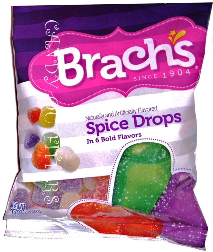 Brach'S Christmas Nougat Candy  SPICE DROPS BRACH S CANDY CLASSIC CANDIES Old