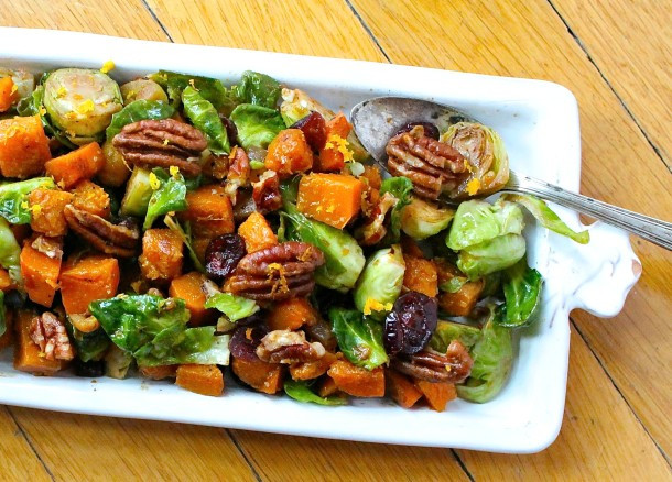 Brussels Sprouts Thanksgiving Side Dishes  Orange Glazed Brussels Sprouts and Butternut Squash