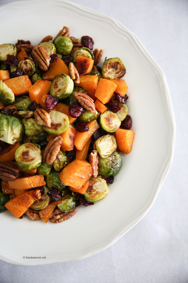 Brussels Sprouts Thanksgiving Side Dishes  Thanksgiving Side Dish Butternut Squash Brussel Sprouts