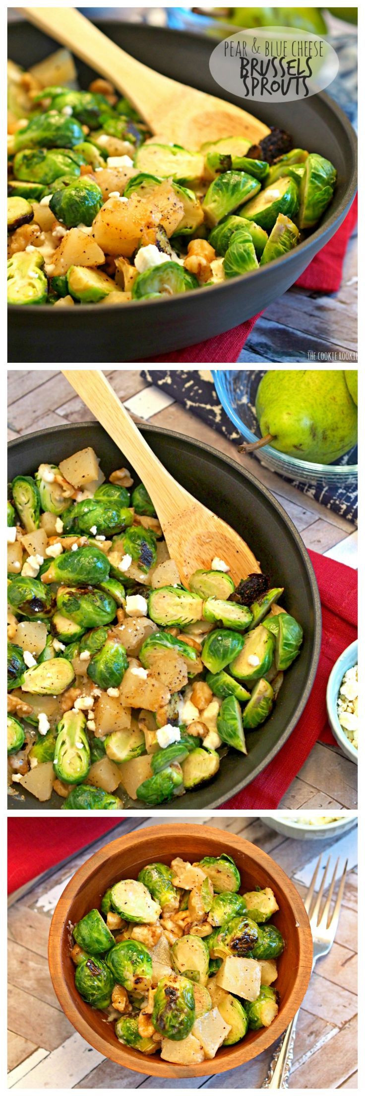 Brussels Sprouts Thanksgiving Side Dishes  Pear and Blue Cheese Roasted Brussels Sprouts