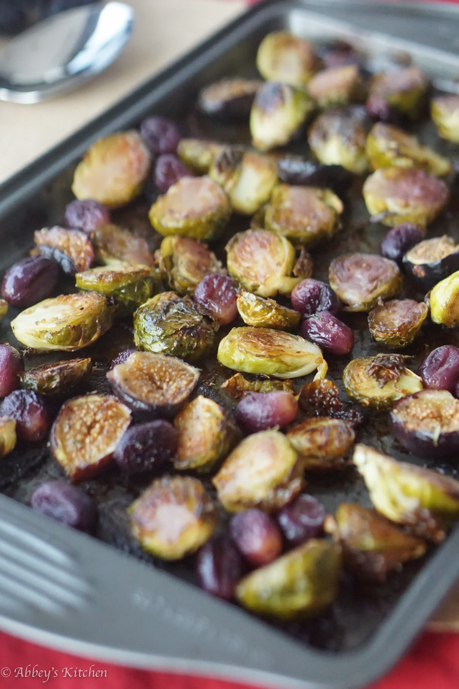 Brussels Sprouts Thanksgiving Side Dishes  Balsamic Roasted Brussel Sprouts with Grapes & Figs