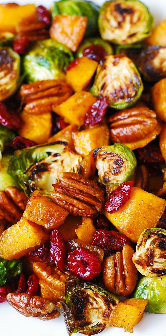 Brussels Sprouts Thanksgiving Side Dishes  Roasted Brussels Sprouts Cinnamon Butternut Squash