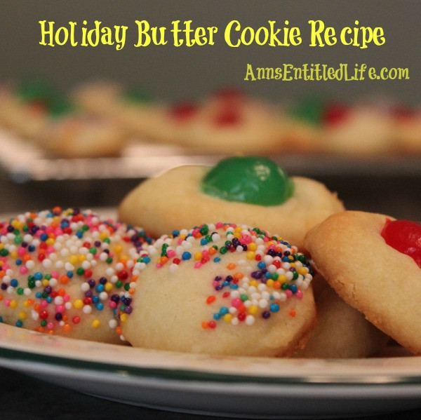 Butter Cookies Christmas  Holiday Butter Cookie Recipe