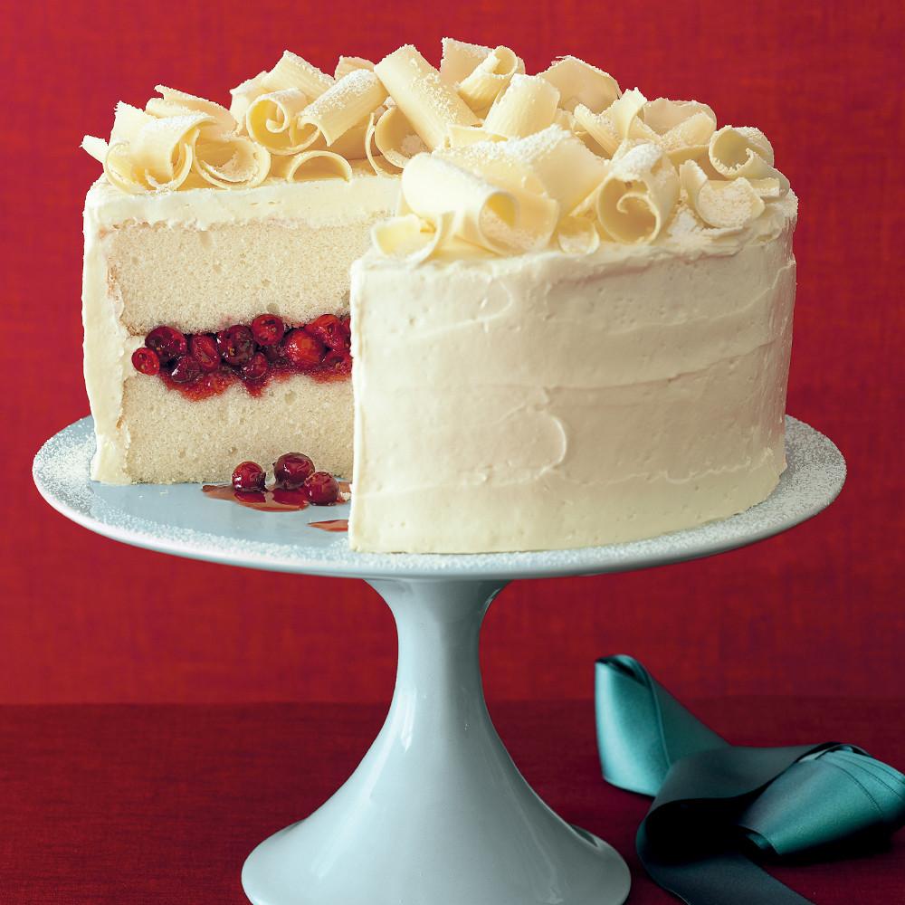 Cakes Recipes For Christmas  Cranberry Obsession Snow Cake Recipe