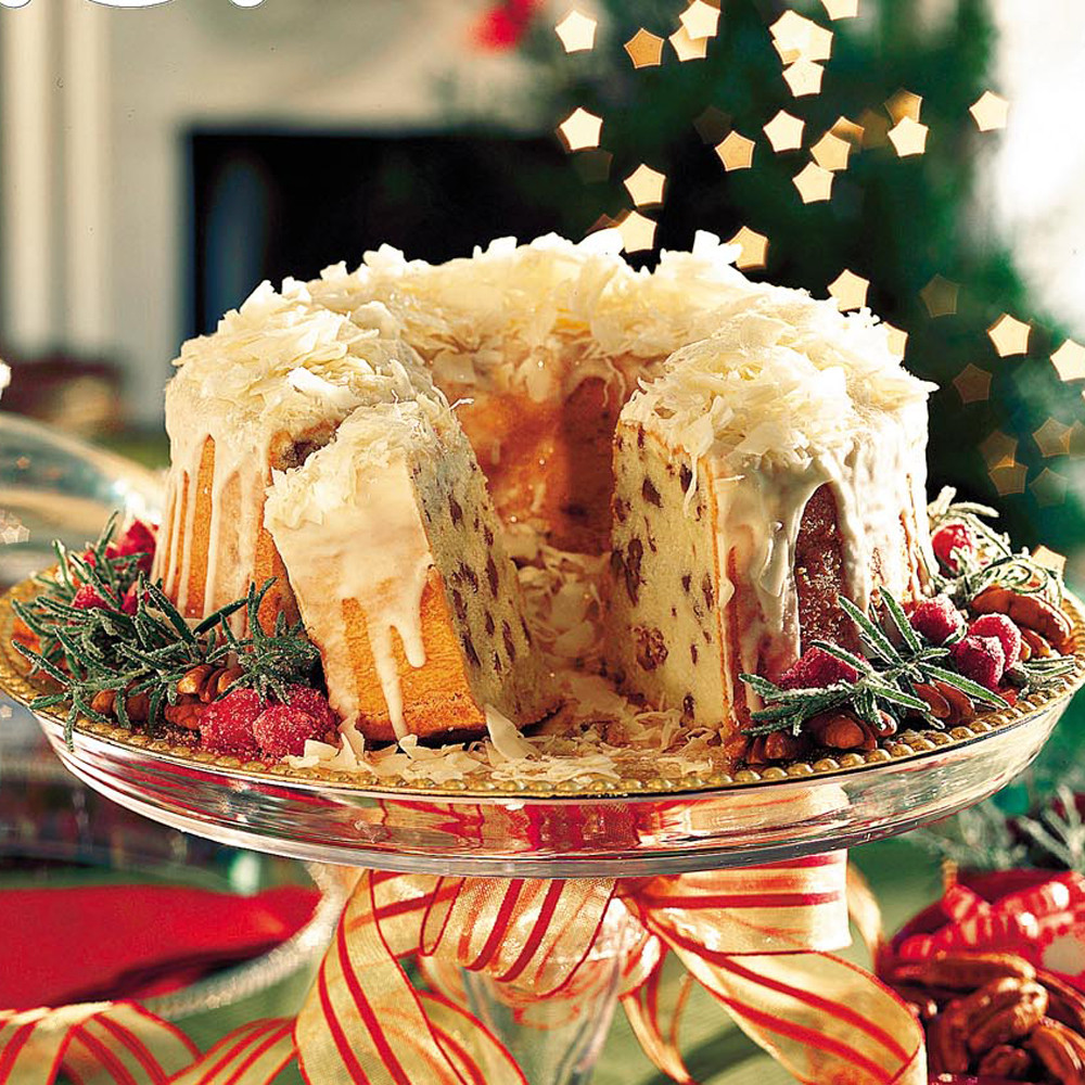 Cakes Recipes For Christmas  Cream Cheese Coconut Pecan Pound Cake Recipe