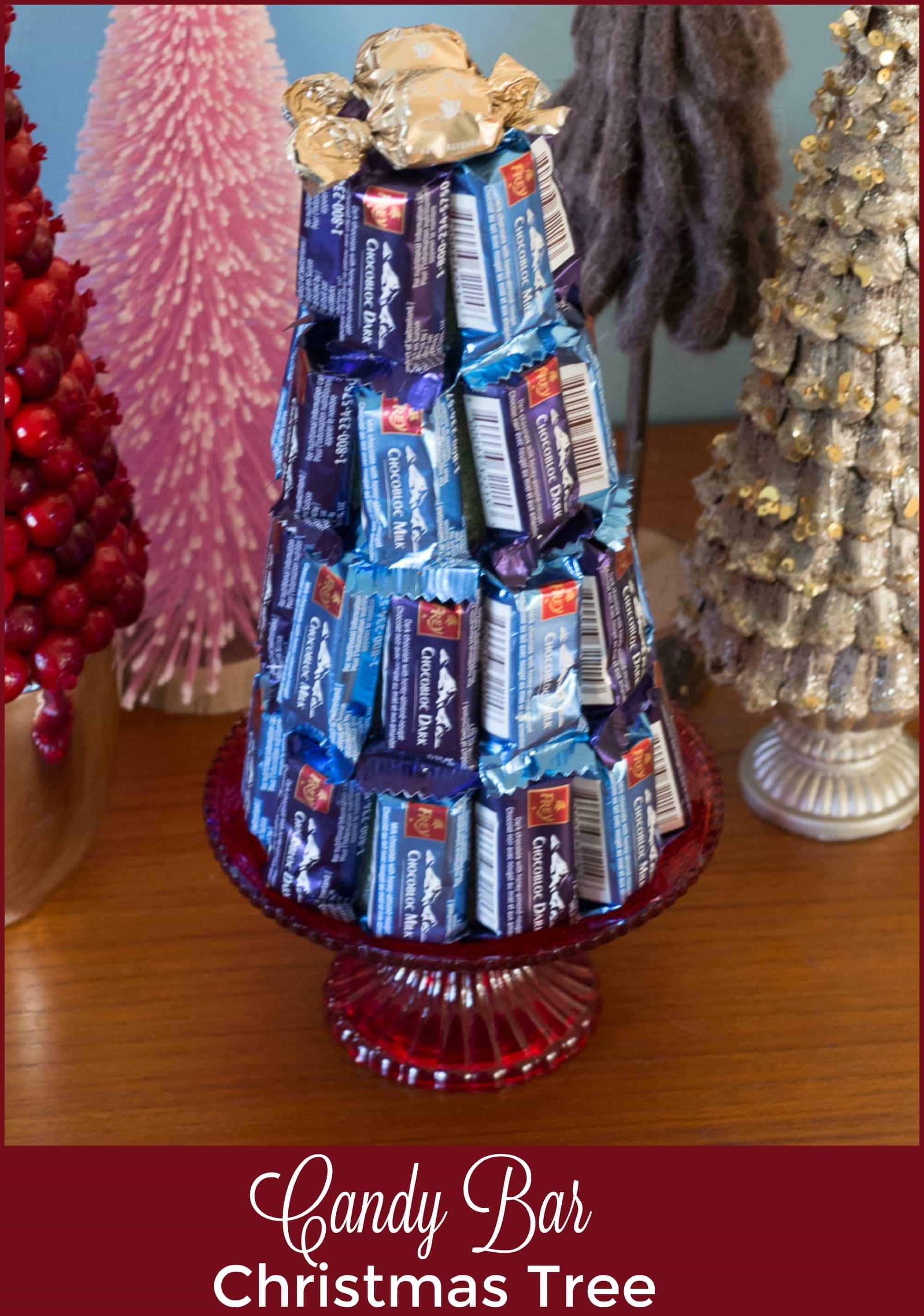 Candy Bar Christmas Tree  DIY Candy Bar Christmas Tree with Giveaway Upstate Ramblings