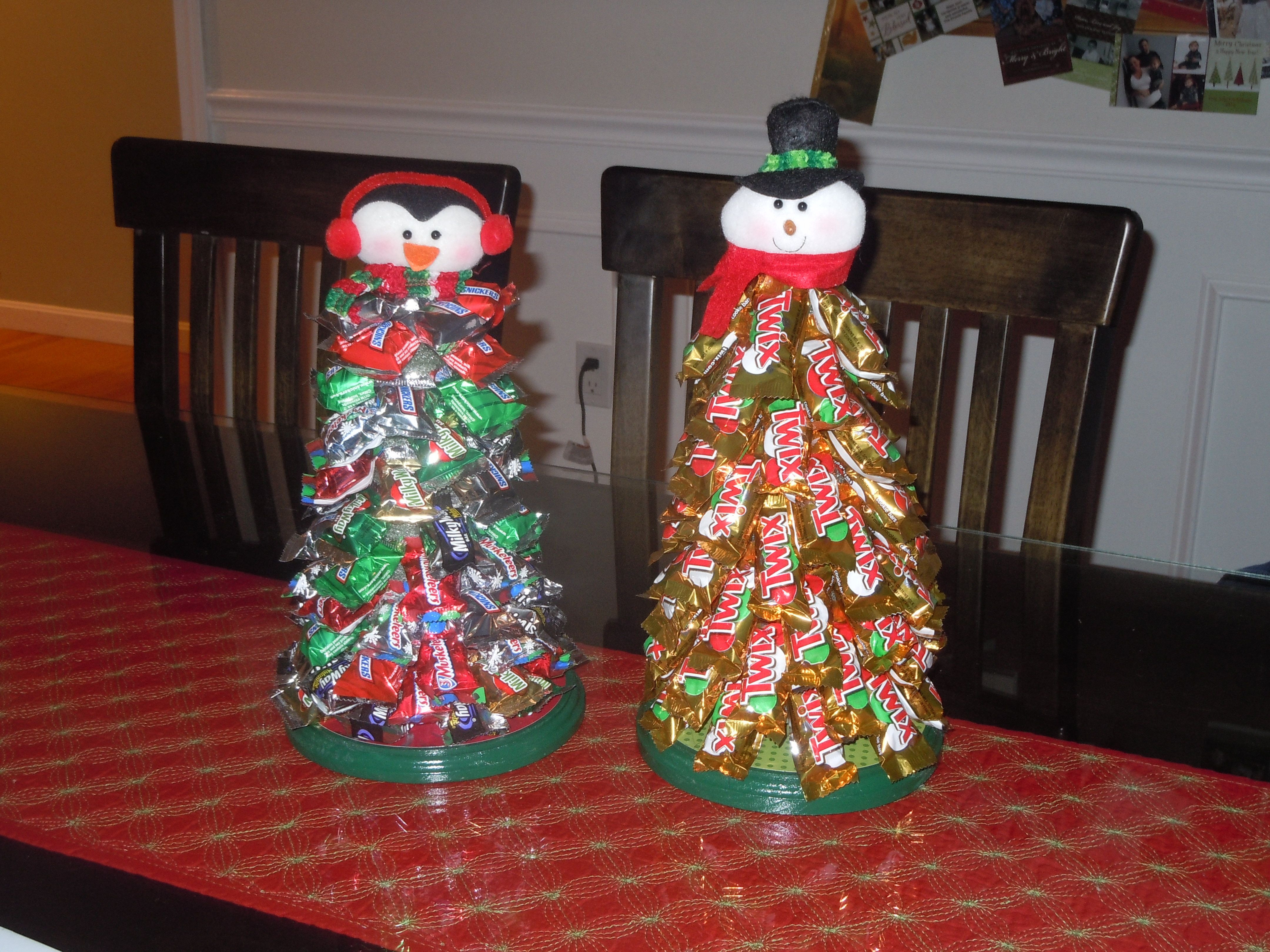 Candy Bar Christmas Tree  Candy bar Christmas trees Things I made