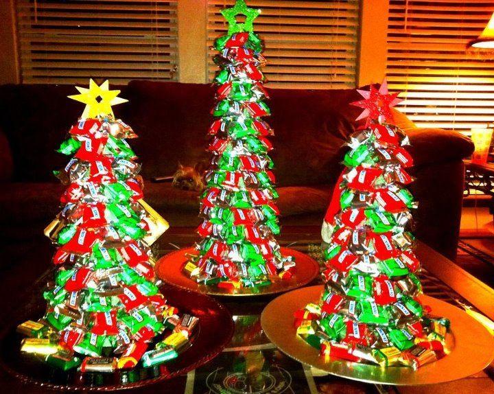 Candy Bar Christmas Tree  Candy Christmas Tree Use green styrofoam cone can