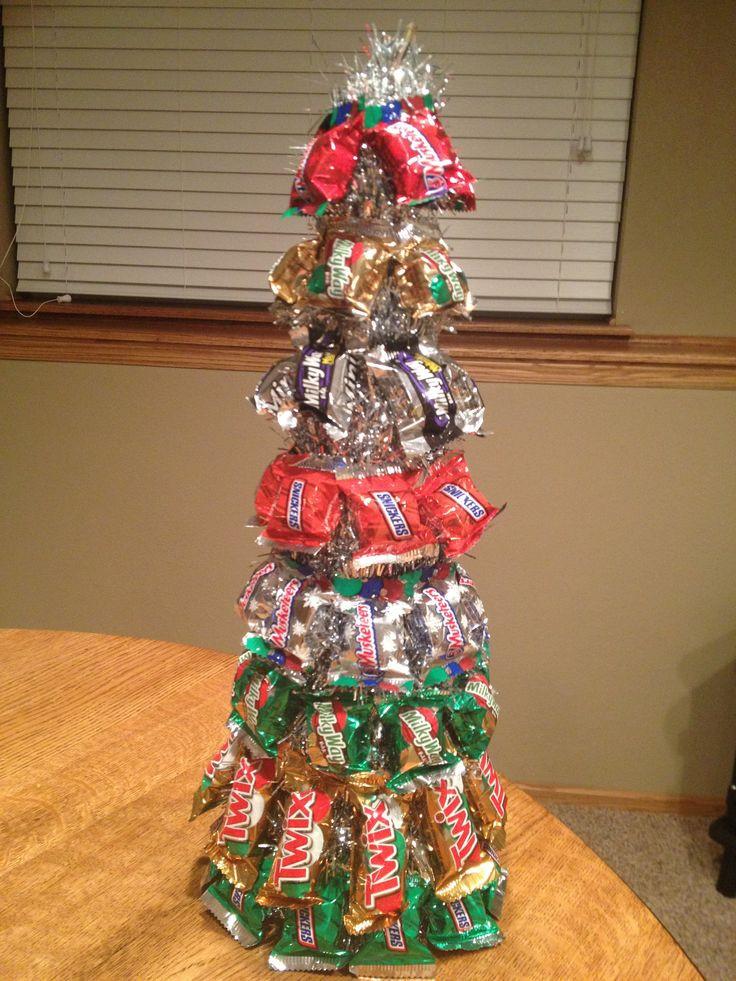 Candy Bar Christmas Tree  Candy Bar Christmas Tree Holidays ideas
