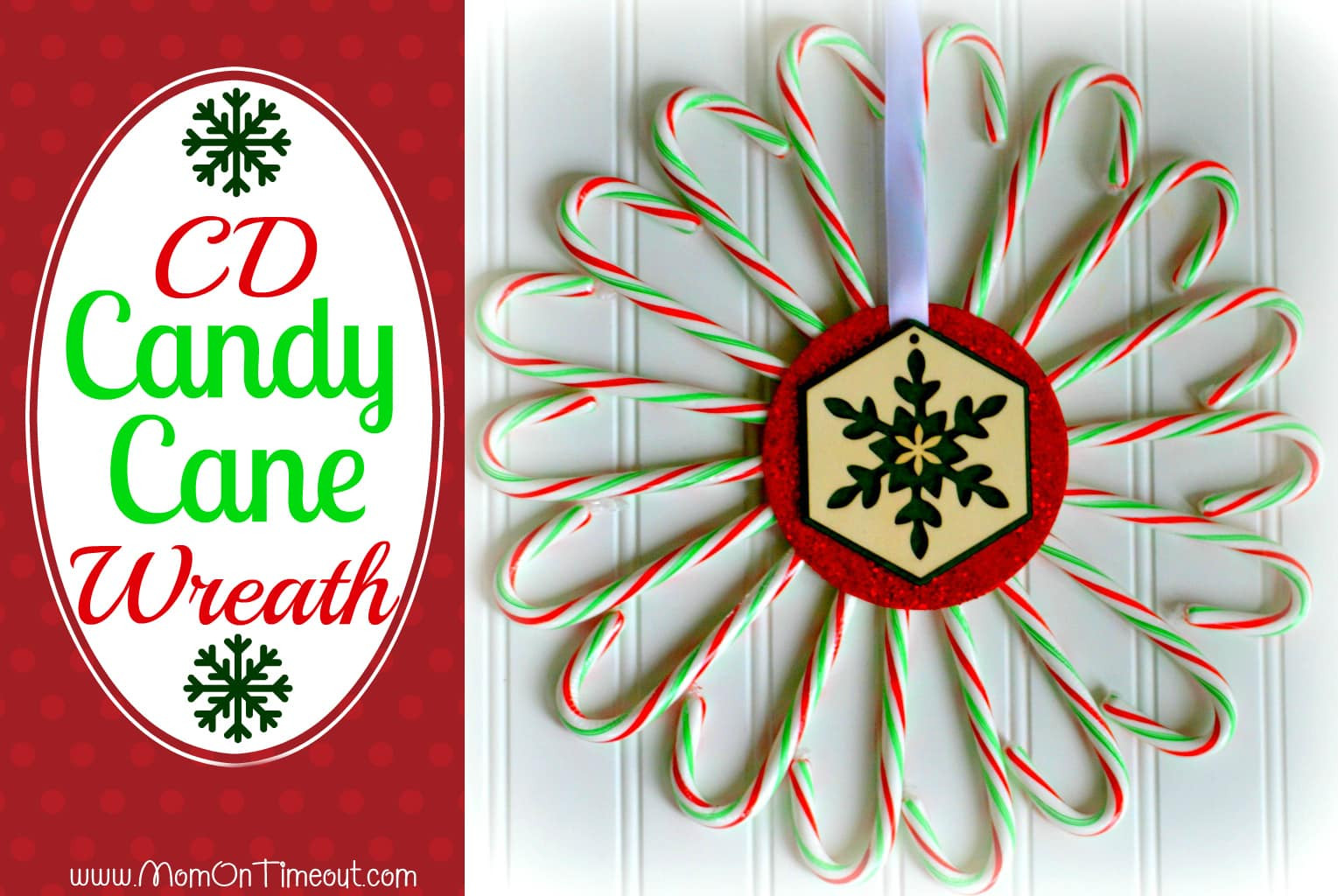 Candy Cane Christmas  Candy Cane CD Wreath Mom Timeout
